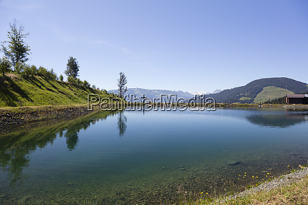 scenic view of astbergsee lake against