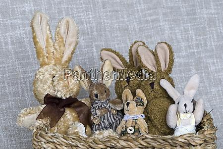 stuffed animals vintage easter bunnies