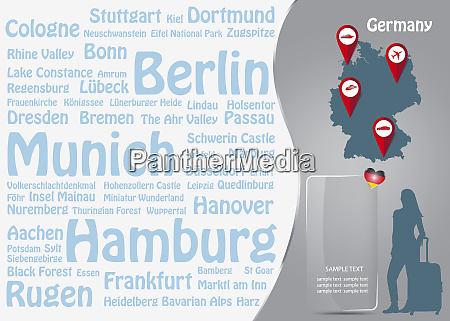travel to germany template vector with