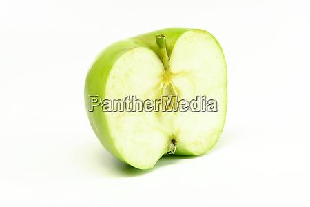 half green apple