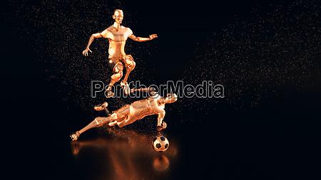 3d motion design of a football