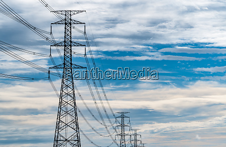 high voltage electric pylon and electrical