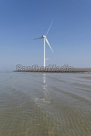 wind wheel at the netherland coast