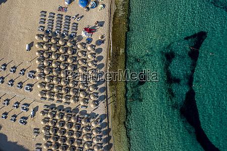 greece mykonos drone view of super