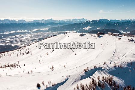 austria carinthia gerlitzen mountains in winter