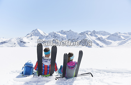 couple of ski tourers having a