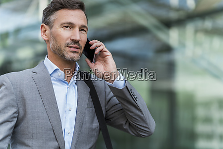 businessman on cell phone in the