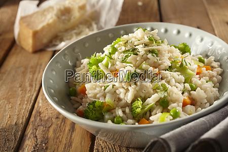 italian risi e bisi rice with