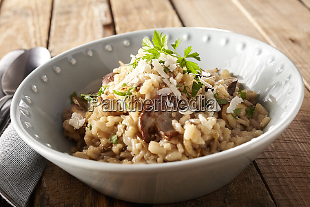 close up of bowl of risotto