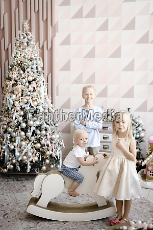 group picture of three children in