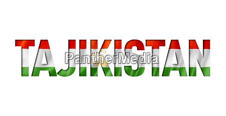 tajikistan flag text font