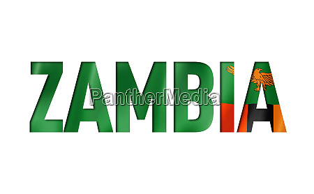 zambia flag text font
