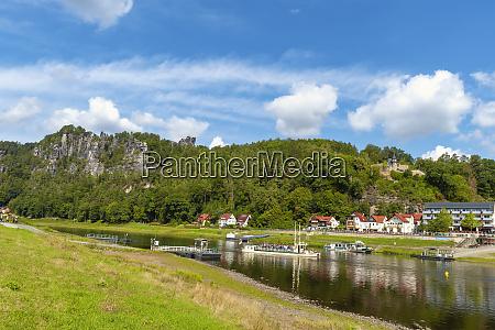 germany saxony rathen tourboaton elbe river