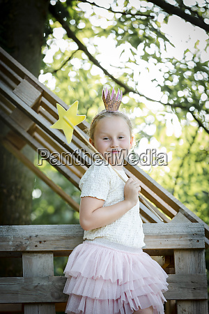 girl dressed as a princess with