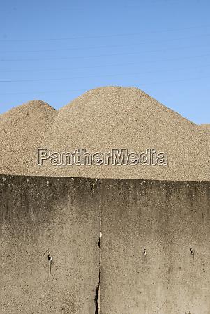 germany berlin heap of sand behind
