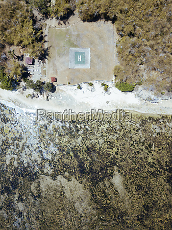 indonesia java aerial view of coastal