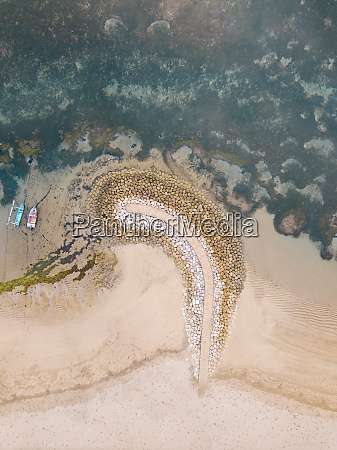indonesia bali sanur aerial view of