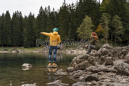 couple at laghi di fusine friuli