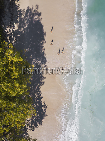 aerial view of children at the