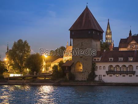germany constance lake constance rheintor tower