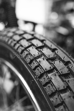 detail of motorcycle tire