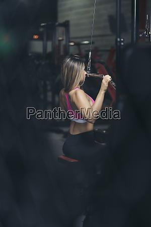 female bodybuilder in gym
