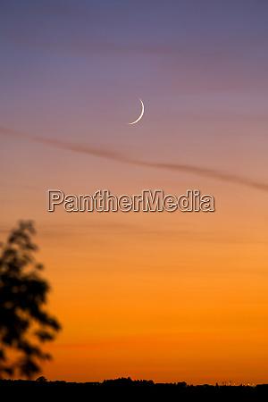 germany wuerzburg crescent at sunset