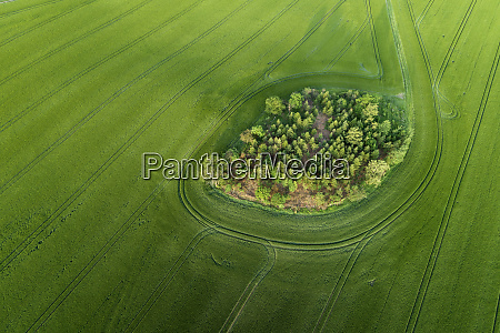 germany thuringia aerial view of small