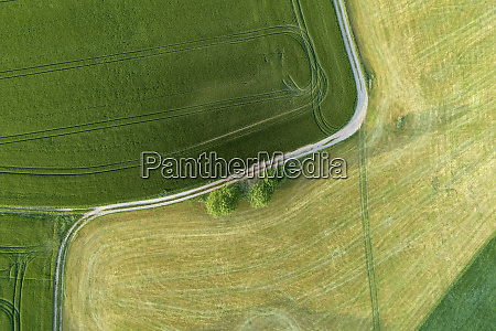germany thuringia aerial view of dirt