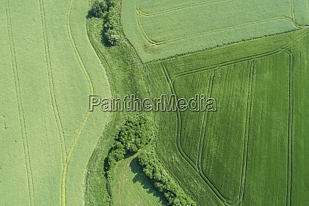 germany bavaria aerial view of green