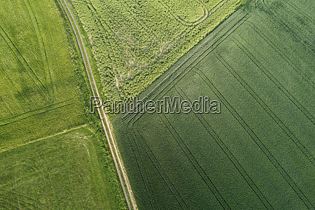 germany bavaria aerial view of dirt