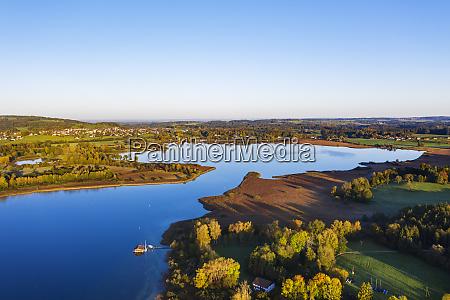 germany bavaria rimsting aerial view of