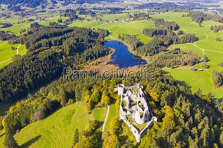 germany bavaria eisenberg aerial view of