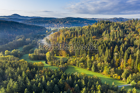 germany baden wurttemberg aerial view ofhaselbachvalley