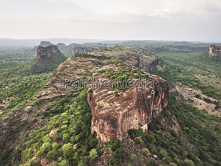 burkina faso aerial view of the