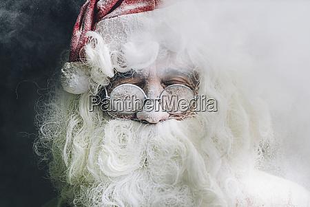 portrait of santa claus with glasses