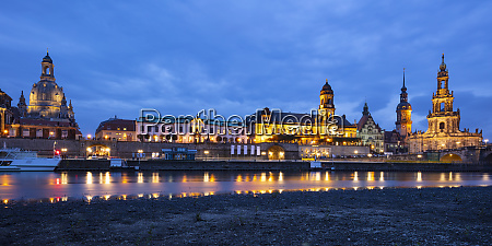germany saxony dresden palace and cathedral