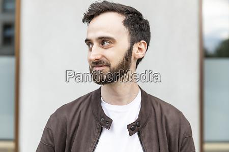 portrait of a bearded man in