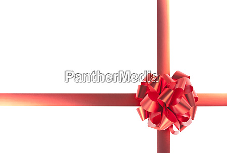 red gift bow and ribbons