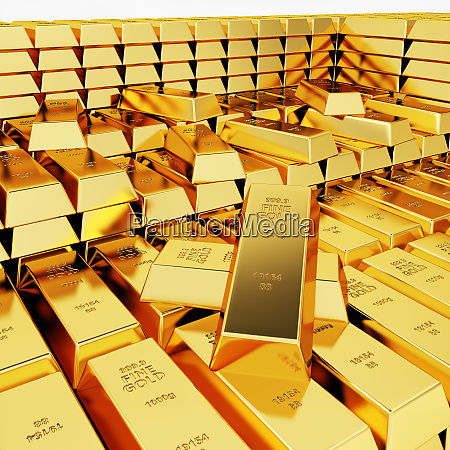 great amount of gold bars
