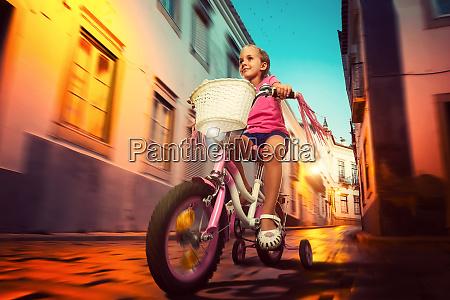 little girl cycling