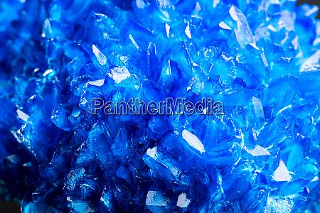 blue icy salt crystal closeup