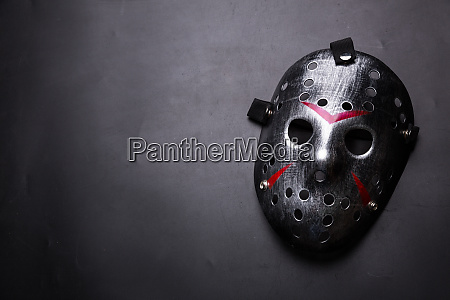 hockey mask of serial killer isolated