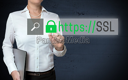 ssl browser touchscreen is shown by