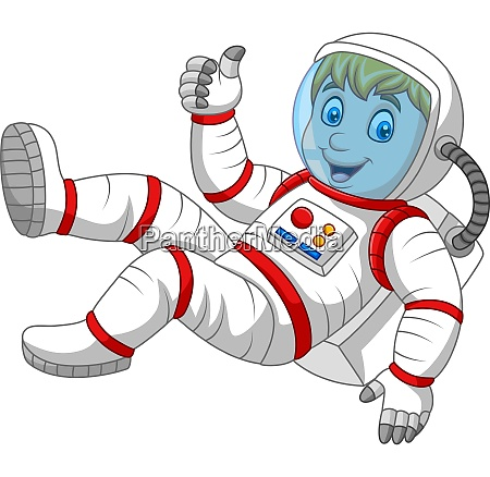 cartoon astronaut giving thumbs up