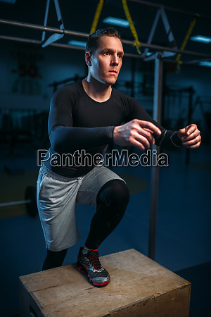 athlete on training endurance exercise with
