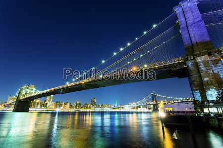 brooklyn, bridge, , manhattan, night, view, from - 28061959