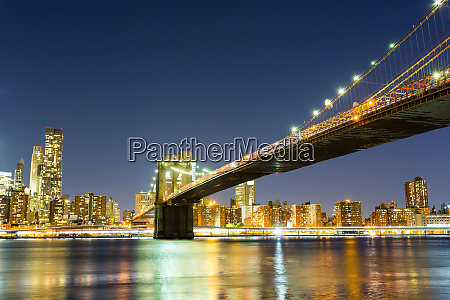 brooklyn, bridge, , manhattan, night, view, from - 28061987