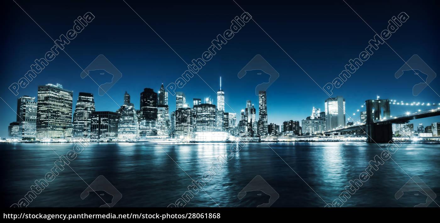 illuminated, manhattan, view - 28061868