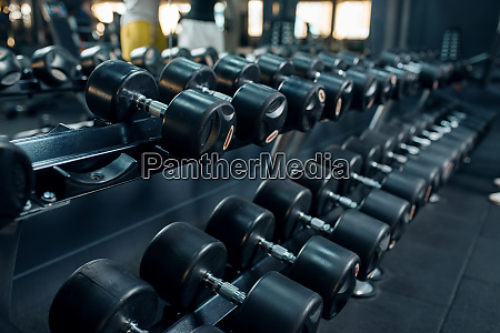 row, of, dumbbells, , in, gym - 28061689